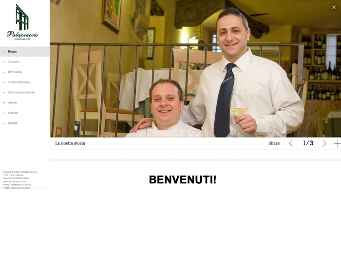 Nuovo sito per il ristorante Palazzaccio!