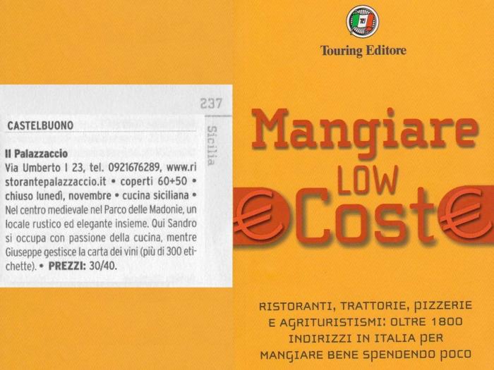 Ristorante Palazzaccio, Mangiare low cost Touring Club