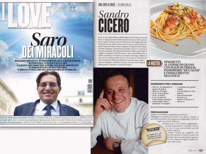 Sandro Cicero in uno chef al mese, I love Sicilia 12-2012