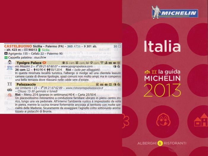 Ristorante Palazzaccio nella guida Michelin 2013